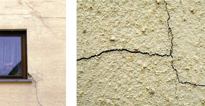 трещины в стене дома