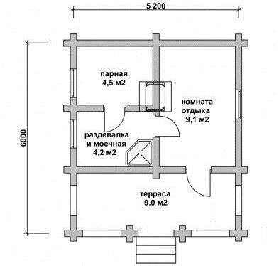 чертеж дома из газобетона