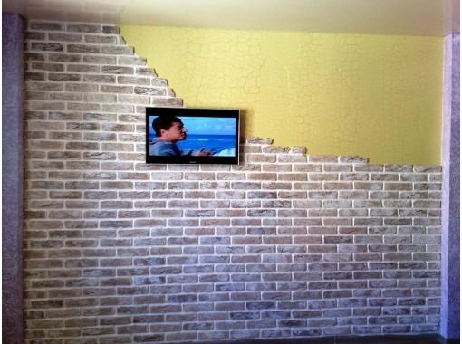 Комбинированная отделка стены